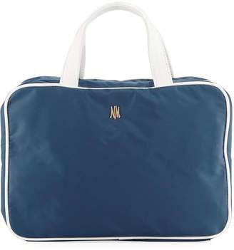 Neiman Marcus Zip-Around Nylon Makeup Train Travel Bag