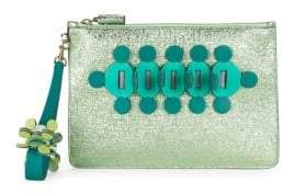 Anya Hindmarch Large Embellished Metallic Pouch
