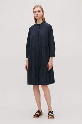 Cos GATHERED -SLEEVED DRESS