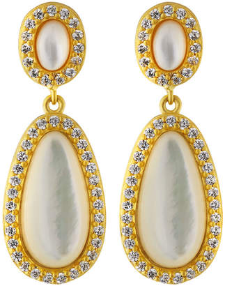 Freida Rothman Mother-of-Pearl Teardrop Earrings