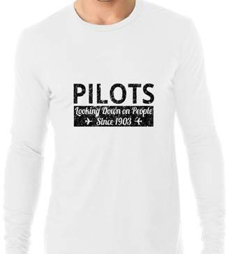 Hollywood Thread Pilots Looking Down On People Since 1903 - Aviation Love Men's Long Sleeve T-Shirt