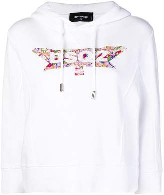 DSQUARED2 paisley logo hoodie
