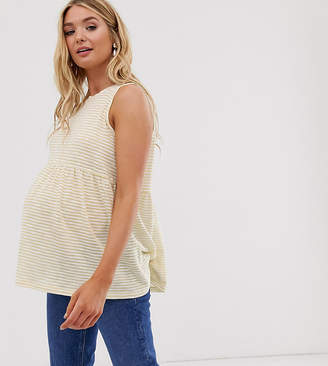 Asos DESIGN Maternity sleeveless smock top in washed stripe