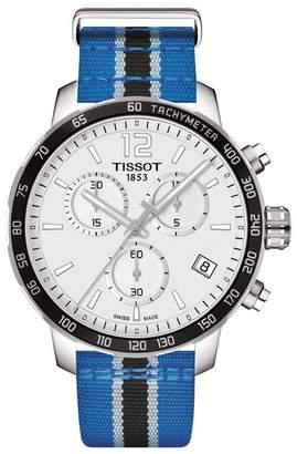 Tissot Men's NBA Minnesota Timberwolves Quickster Chronograph Swiss Quartz Watch, 42mm
