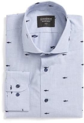 Nordstrom Trim Fit Shark Dress Shirt