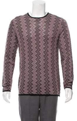Armani Collezioni Patterned Silk-Blend Sweater w/ Tags