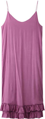 Ne Quittez Pas (ヌキテパ) - ヌキテパ シャイニーレーヨンフリルストラップドレス