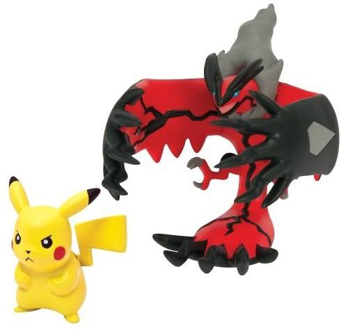 Pokemon 2 Pack Figure Yveltal and Pikachu