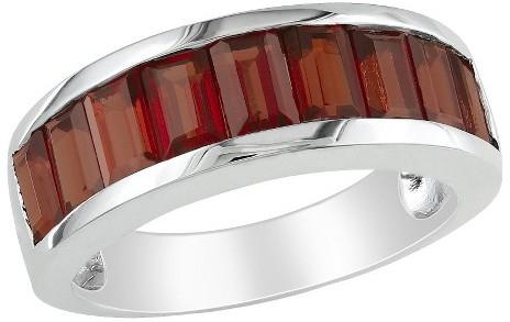 3 1/3 CT.T.W. Garnet Channel Ring in Sterling Silver
