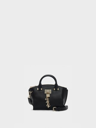 DKNY Elissa Mini Pebbled Leather Top Zip Satchel