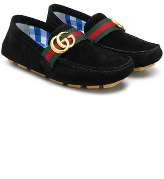f199be67fea6 Gucci Kids web embellished GG loafers