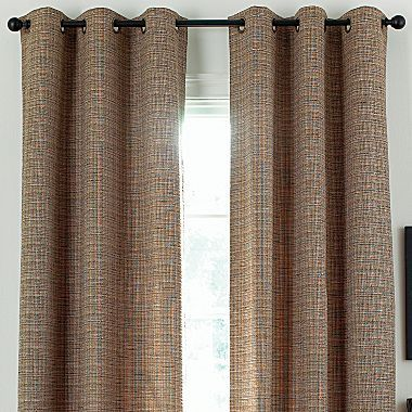JCPenney Jewel-Tex Thermal Grommet Valance