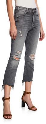 Mother The Hustler Crop Step Chewed-Hem Jeans