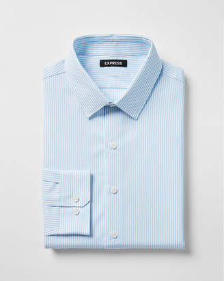 Express Classic Striped Cotton Point Collar Dress Shirt