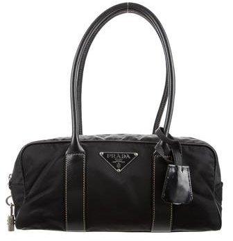 pradaPrada Leather & Tessuto Small Shoulder Bag