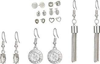 GUESS Women's 9 On Ear W Stones Logo Update Earrings