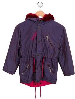Versace Girls' Hooded Puffer Coat