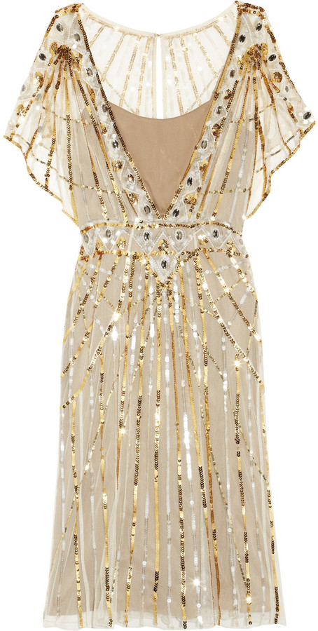Temperley London Web sequined tulle dress