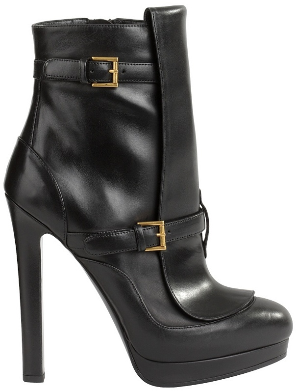 Black Buckled Punk Boot