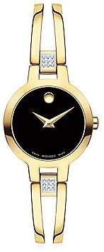 Movado Women's Amorosa Bangle Goldtone & Diamond Bracelet Watch
