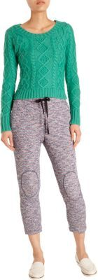 Band Of Outsiders Tweed Track Pants