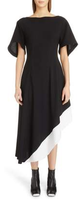 Loewe Asymmetrical Contrast Hem Dress