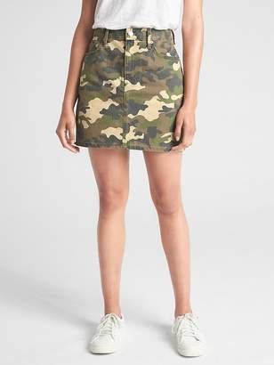 Gap Denim Mini Skirt in Camo Print