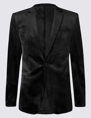 Marks and Spencer Velvet Black Tailored Fit Jacket