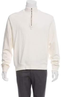 Ralph Lauren Purple Label Half-Zip Fleece Sweater Purple Half-Zip Fleece Sweater