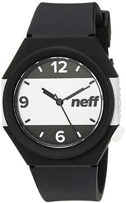Neff Unisex NF0225BKWH Stripe Analog Display Japanese Quartz Black Watch