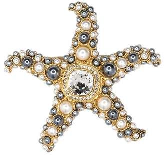 Kenneth Jay Lane Two Toned Pearl Starfish Brooch