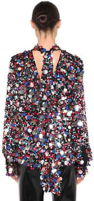 MSGM Sequined Multi Color Top