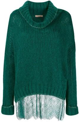 Twin-Set knit roll-neck jumper