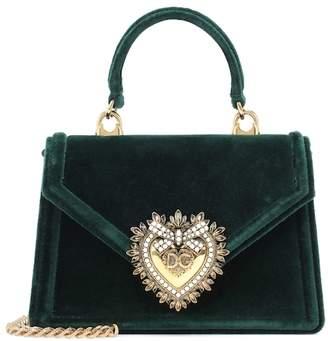 d5c32a19414 Dolce   Gabbana Small Devotion velvet shoulder bag