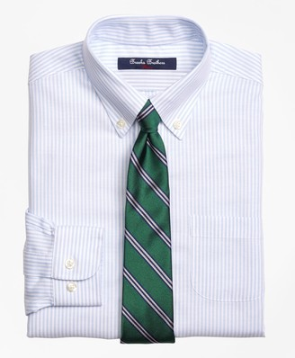 Brooks Brothers Non-Iron Supima Cotton Oxford Stripe Dress Shirt