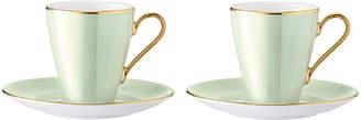 LSA International Sorbet Coffee Cup & Saucer - Set of 2 - Melon