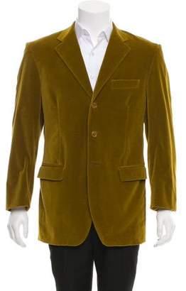 Dolce & Gabbana Velvet Three-Button Blazer