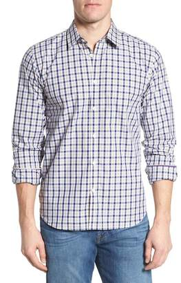 JEREMY ARGYLE Fitted Plaid Sport Shirt