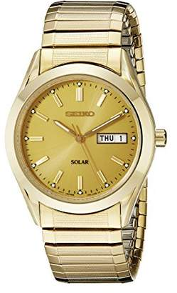 Seiko Men's SNE058 Tone Solar Champagne Dial Watch