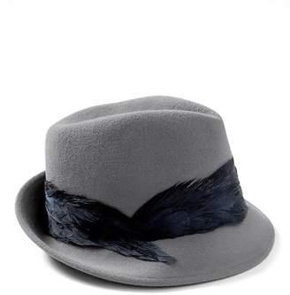 5b450a5c81c Banana Republic Womens Andrea Fedora Hat Black Shop Your Way