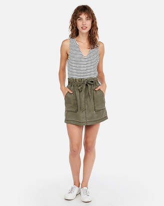 Express Super High Waisted Silky Soft Twill Skort