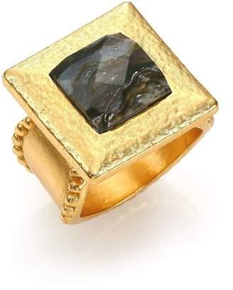 Stephanie Kantis Women's Flapper Labradorite Square Cocktail Ring