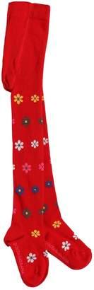 Dolce & Gabbana Floral Cotton Knit Tights