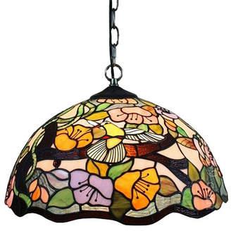 Tiffany & Co. AMORA Amora Lighting AM104HL16 Style Floral Hanging Lamp 2 Light 16 In Wide
