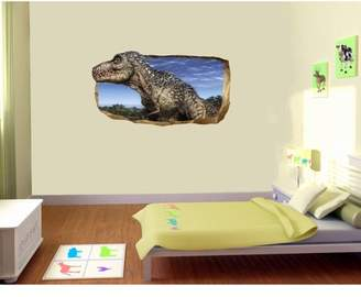 Mural Startonight 3D Wall Art Photo Decor Jurassic Dinosaur World I Amazing Dual View Surprise Wall Wallpaper for Bedroom Kids Wall Paper Art Large Gift Medium 32.28 By 59.06