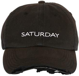 Vetements Weekend Distressed Canvas Baseball Hat