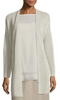 Eileen Fisher Crepe Long Cardigan $278 thestylecure.com
