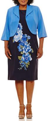 MAYA BROOKE Maya Brooke Sleeveless Jacket Dress - Plus