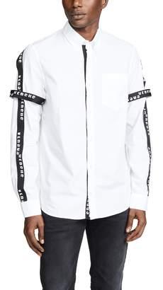 Versace Logo Tape Buttondown Shirt