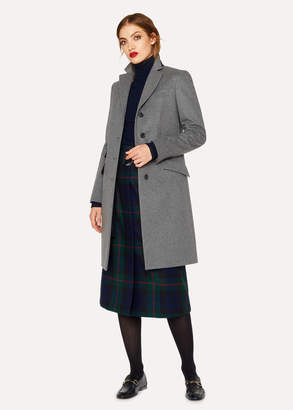 Paul Smith Women's Grey Wool And Cashmere-Blend Epsom Coat